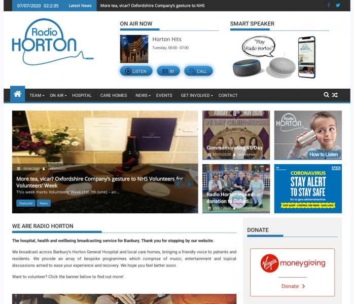 Radio Horton's new look website
