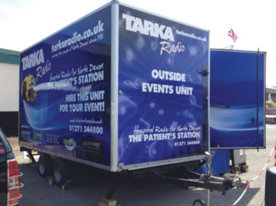Tarka Radio OB Unit Rear View